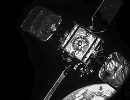 Intelsat 10-02 im Blick des MEV-2, Abstand ~ 30 Meter. (Bild: Northrop Grumman)