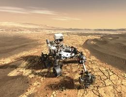 Perseverance mit MEDA und HGAS (Bild: NASA / JPL Caltech)