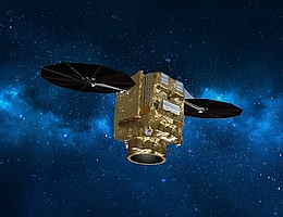 Pléiades Neo-Satellit im All - Illustration. (Bild: Airbus)