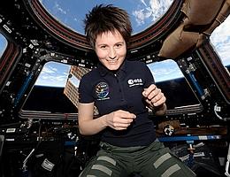 Samantha Cristoforetti während ihres ersten ISS-Aufenthalts. (Bild: ESA/NASA, CC BY-SA 3.0 IGO)