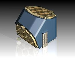 Ultrakompaktes, hochleistungsfähiges optisches Freiform-Teleskop für Aufnahmen der thermischen Infrarotstrahlung. (Bild: OHB)