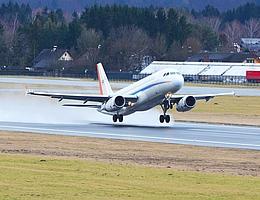 ATRA kurz vor dem Aufsetzen auf dem Flughafen Salzburg. (Bild: Austrocontrol: Walter Hager ATC LOWS)
