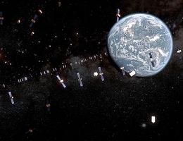Trümmer und defekte Raketenstufen im geostationären Ring. Es ist bekannt, dass alternde Satelliten Trümmer freisetzen und dass es aufgrund von Restenergien zu Explosionen kommen kann. Die daraus hervorgehenden Fragmente können zurückgeschleudert werden und die geostationäre Umlaufbahn kreuzen. Aus diesem Grund ist es von grundlegender Bedeutung, Restenergie freizusetzen, sobald die nominale Mission beendet ist. (Bild: ESA)