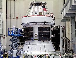 ESM – das Herzstück aller Orion-Raumschiffe. (Bild: NASA/Radislav Sinyak)