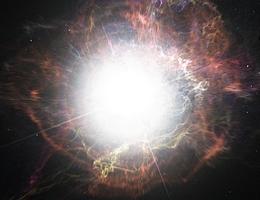 Diese künstlerische Darstellung zeigt die Staubbildung in der Umgebung einer Supernova-Explosion. (Bild: ESO/M. Kornmesser, CC BY-SA 4.0)