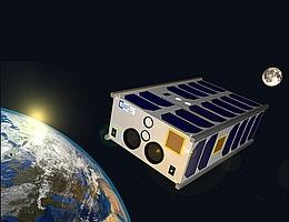 SONATE-2 im Orbit: Visualisierung des neuen Technologie-Erprobungssatelliten für hochautonome Nutzlasten und Künstliche Intelligenz. (Bild: Hakan Kayal / Universität Würzburg)